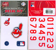 Cleveland Indians Chief Wahoo Batting Helmet Rawlings Decal Kit