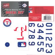 Texas Rangers Batting Helmet Rawlings Decal Kit