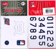 Detroit Tigers Batting Helmet Rawlings Decal Kit