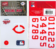 Minnesota Twins Batting Helmet Rawlings Decal Kit