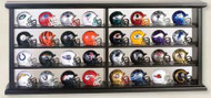 NFL 32 piece Revolution Pocket Pro Helmet Set with Display Case