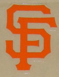 SAN FRANCISCO GIANTS FULL SIZE HELMET 3M STICKER DECAL