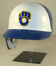 Milwaukee Brewers Rawlings REC White Throwback Full Size Baseball Batting Helmet