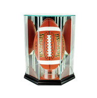 Deluxe Real Glass Upright Football Display Case