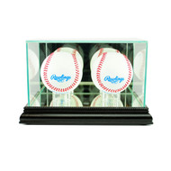 Deluxe Real Glass Double Baseball Display Case