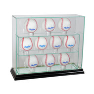 Deluxe Real Glass Ten Baseball UPRIGHT Display Case