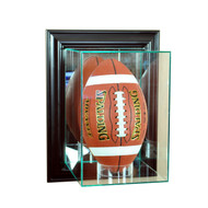 Deluxe Real Glass  Wall Mounted Upright Football Display Case