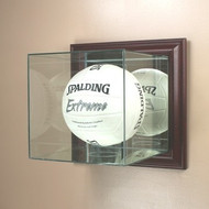 Deluxe Real Glass Wall Mount Volleyball Display Case