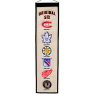 NHL Original 6 Heritage Banner Size 8 x 32 inch