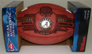 WILSON OFFICIAL NCAA ALABAMA 2011 BCS CHAMPIONS LEATHER GAME FOOTBALL - LIMITED EDITION