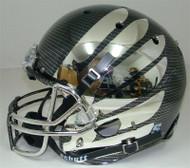 Oregon Ducks Schutt Carbon Fiber Chrome Wing Full Size Replica Helmet