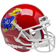 Kansas Jayhawks Alternate Red Schutt Mini Authentic Helmet