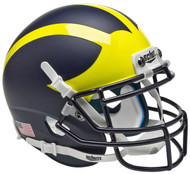 Michigan Wolverines Alternate Matte Schutt Mini Authentic Helmet