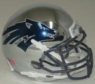 Nevada Reno Wolfpack Alternate Battle Born Chrome Schutt Mini Authentic Helmet
