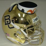 Baylor Bears Alternate GOLD CHROME Mini Helmet Desk Caddy by Schutt