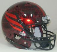 Texas Tech Red Raiders Alternate NEVER QUIT / LONE SURVIVOR Schutt Full Size Replica Helmet