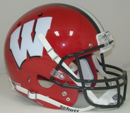 Wisconsin Badgers Alternate RED with BLACK Schutt Full Size Replica Helmet