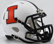 Illinois Illini Alternate White NCAA Riddell SPEED Mini Helmet