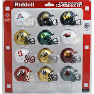 NCAA PAC 12 Pocket Pro Revolution Mini Helmets Set by Riddell