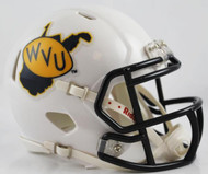 West Virginia Mountaineers Alternate White 2013 Revolution SPEED Mini Helmet