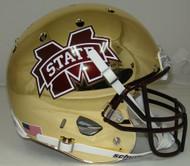 Mississippi State Bulldogs Alternate CHROME Schutt Full Size Replica Helmet