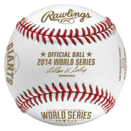 2014 World Series MLB Rawlings Official Baseball with Giants Championship Logo in Cube