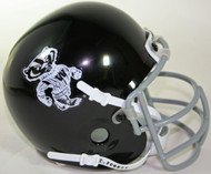 Wisconsin Badgers Black 1969 Bucky Badger Mascot Logo Savage Award Schutt Throwback Mini Authentic Helmet