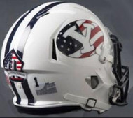 BYU Brigham Young Cougars RED WHITE & BLUE NCAA Riddell Speed Mini Helmet