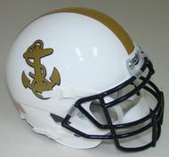 Navy Midshipmen Alternate White Schutt Mini Authentic Helmet