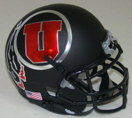 Utah Utes Alternate 7 Black Schutt Mini Authentic Helmet
