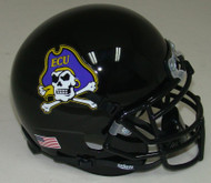 East Carolina Pirates Alternate 2 Jolly Roger Schutt Mini Authentic Helmet