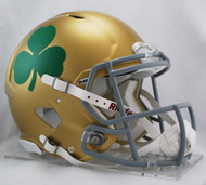 Notre Dame Fighting Irish with Shamrock Clover NEW Riddell Full Size Authentic SPEED Helmet