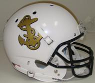 Navy Midshipmen Alternate White Schutt Full Size Replica Helmet