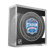2015 NHL Stadium Series Levi's Stadium Official Game Puck in Cube - Kings vs. Sharks
