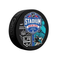 2015 NHL Stadium Series Levi's Stadium Dueling Souvenir Game Puck - Kings vs. Sharks