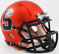 Syracuse Orangemen Orange Chrome Revolution SPEED NCAA Mini Helmet