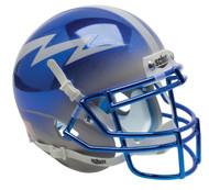 Air Force Falcons Alternate Blue Grey Chrome Schutt Mini Authentic Helmet