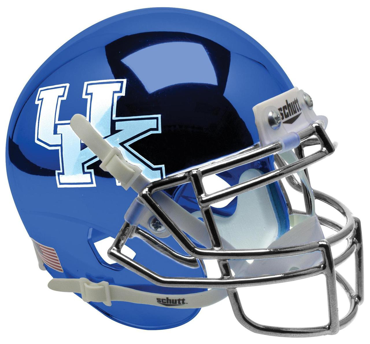 Football Helmet Vinyl Wraps : Kentucky wildcats alternate blue chrome schutt mini