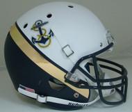 Navy Midshipmen Alternate White & Navy Anchor Schutt Full Size Replica Helmet