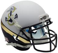 Navy Midshipmen Alternate White & Navy Anchor Schutt Mini Authentic Helmet