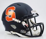 Syracuse Orangemen Matte Navy Revolution SPEED NCAA Mini Helmet