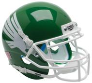 North Texas Mean Green Alternate Schutt Mini Authentic Helmet