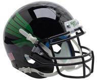 North Texas Mean Green Alternate Black Schutt Mini Authentic Helmet