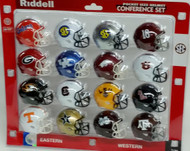 NCAA SEC Pocket Pro Speed Revolution Mini Helmets Set by Riddell