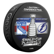 2015 NHL Stanley Cup Playoff Sherwood Souvenir Dueling Puck - Lightning vs. Rangers