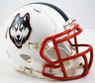 Connecticut Huskies 2015 White Revolution NCAA SPEED Mini Helmet