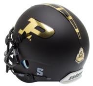 Purdue Boilermakers Alternate Black Schutt Mini Authentic Helmet