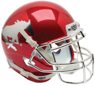 Southern Methodist SMU Mustangs Red Chrome Schutt Mini Authentic Helmet