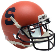 Syracuse Orangemen Alternate Matte Orange Schutt Mini Authentic Helmet