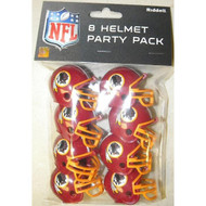 Washington Redskins Gumball Party Pack Helmets (Pack of 8)